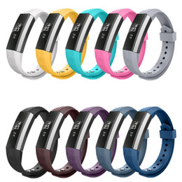 Wholesale Adjustable Wrist Bands - Wholesale- High Quality Soft Silicone Fitbit Alta Watch Metal Bands Wristband Bracelet Replacement Accessories with Secure Adjustable Strap