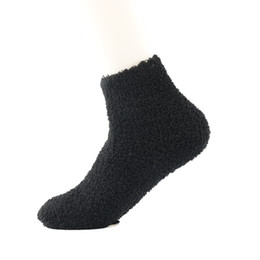 Wholesale Acrylic Floors - Wholesale- 1 Pair Casual Fuzzy Thick Warm Womens Candy Colors Slipper Socks Ladies Girls Floor socks Slipper Socks