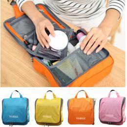Wholesale Large Hanging Travel Bag - Wholesale- Portable Waterproof Make Up Travel Cosmetic Bag Large Capacity Toiletry Bathing Package Hanging Pouch Storage Sorting Organiser