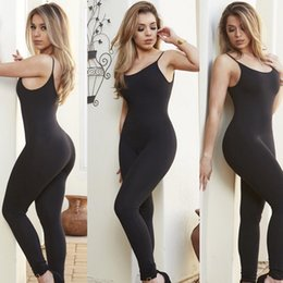 Wholesale Suspender Jumpsuit - Black White Backless Sexy club party suspenders long womens Rompers and Jumpsuits playsuits Casual summer plus size 2016 new freeshipping