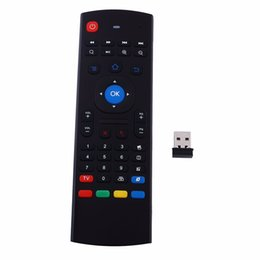 Wholesale Video Player Pc - Wholesale- Hot Sale 2.4Ghz Wireless Mini Keyboard MX3 With IR Learning Mode Air Mouse Remote Control Keyboard For PC Laptop Android TV Box