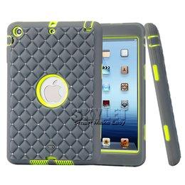Wholesale Diamond Ipad Covers - For iPad Case Diamond Crystal Rugged Gel Protector Case For iPad Mini 1 Mini 2 Mini 3 Tablet Case with OPP Package