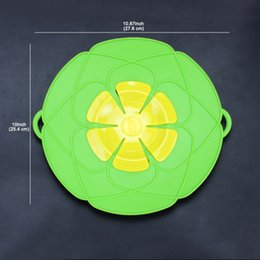 Wholesale Pot Lids - Buddies Silicone Spill Cover Guard Lid Stopper Pan Kitchen Cooking Tool Boil Pot Hot Utensil Gift