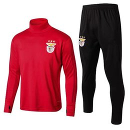 Wholesale Clothing Stops - 17 18 Benfica Football Training suit 2017 2018 Football clothes suit men sportswear survetement Football Long sleeve T-shirt free shipping