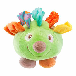 Wholesale Baby Hedgehogs - Wholesale- candice guo! newest arrival super cute smiling plush hedgehog baby toy pull music birthday gift 1pc