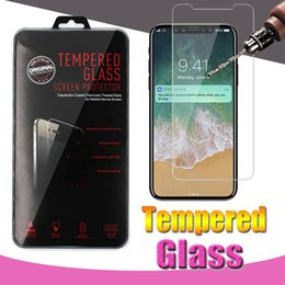 Wholesale Iphone Scratch Guard - Tempered Glass Screen Protector Film Guard 9H Hardness Scratch For iPhone X 8 7 6 6S 5 5S Plus Samsung Galaxy S9 S8 Plus Note Retail Package