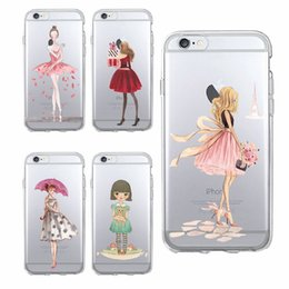Wholesale Cartoon Sexy Case - Phone Cases for iPhone 8 8Plus X 7 7Plus 7 6 6Plus 5 Soft TPU Transparent Modern Sexy Girls Cartoon Pattern Case Cover