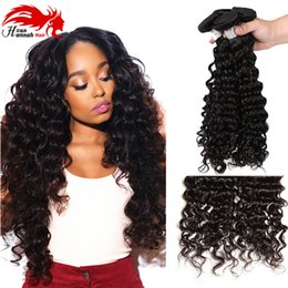 Wholesale cheap remy hair sale - Cheap Brazilian Deep Wave 3 Bundles Hannah Hair Extensions Unprocessed Brazilian Deep Curly Virgin Hair Hot Sale