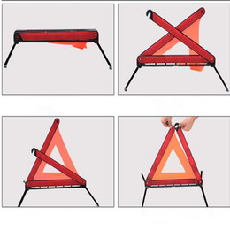 Wholesale Shipping Triangle Sign - Car Road Emergency Warning Triangle Foldable Reflective Safety Sign Roadside Free Shipping