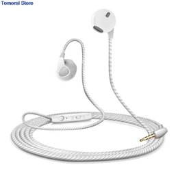 3.5 mm microfono martinetti online-New Headphones 5 Color S10 Earphones Stereo Bass With Microphone 3.5mm Jack Use For iPhone For Samsung Smart phone dhl free.