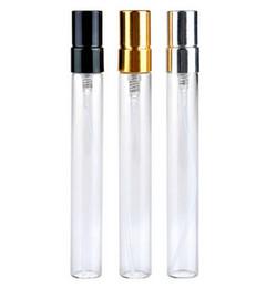100pcs / lot 10 ml en verre bouteille de parfum vide flacon de pulvérisation rechargeable petit parfum atomiseur parfum échantillon flacons en verre test flacon ? partir de fabricateur