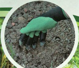 Canada 50 pcs Jardin Genie Gants Avec Des Doigts Des Griffes Vert Dig et Plant Gants Élagage Sûr Jardin Gants Creuser Imperméables G062 Offre