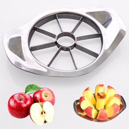 Wholesale Utensil Stainless Steel - 300pcs lot Stainless steel apple slicer Vegetable Fruit Apple Pear Cutter Slicer Processing Kitchen slicing knives Utensil Tool