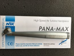Wholesale Dental High Speed Holes - NSK Pana Max Dental Surgical 45 Degree High Speed Handpiece push button Single Spray 2 Hole