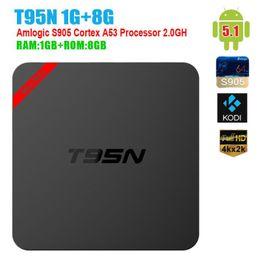 mx amlogique Promotion Amlogic S905 T95N Mini MX + Android TV BOX 16.0 Android 5.1 4K VS MXQ S805 S905 M8S T95 TV BOX OTH244