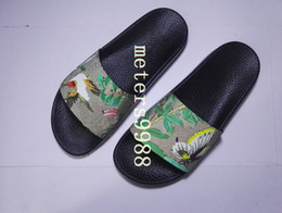 Wholesale Mens Sandals Free Shipping - 2017 mens and womens fashion slippers bird butterfly tian slide sandals adults beach flip flops free shipping