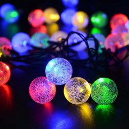 Argentina 30 Leds Lights Party Xmas Solar led Christmas Lights LED Strings Lámpara de luz Solar String Bulbs Waterproof 6.5M Suministro