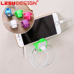 Wholesale Best Cell Phone Holder - Wholesale Best price Cute Cell Mobile Phone with charging bracket lazy charger On Wall Charger Holder for phone charger Bracket