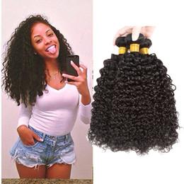 Wholesale Real Human Hair Bulk - Ushine Peruvian Brazilian Virign Human Hair Kinky Curly Wave Bundles Hair Extensions Real Human Hair Bundles Natural Color Mix Length