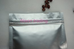 Wholesale Aluminum Coffees - 100pcs lot coffee bean bag, 16*24cm purely aluminum foil ziplock bags, silver white mylar lollipops candy moistureproof reusable sack