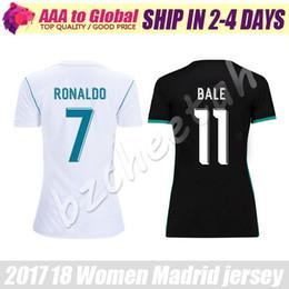 Wholesale Shirt Sport Soccer - Women Ronaldo Jersey 2018 La Sra Ropa de deporte Modric Bale Benzema Sergio Ramos Soccer Jersey 17 18 Lady uniform sports shirts