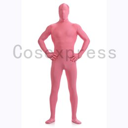 Wholesale Zentai Anime Cosplay Costumes - Brand New Anime Sexy Women Pink Lycra Full Body Zentai Suit Halloween Cosplay Catsuit Costumes