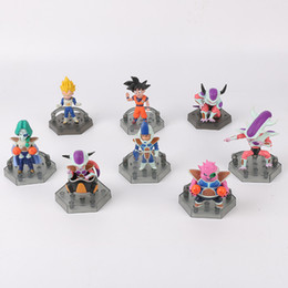 Wholesale Kid Gohan - 8pcs set Mini Dragon Ball Son Goku Son Gohan PVC Action Figure Collectable Model Toy For Kids Gift Free Shipping 170320