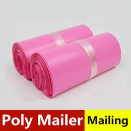 Wholesale Pink Mail Bags - 28*42cm mail Poly Mailer Bag Pink Express Mailing Envelope Organizer Organizador Bolsas Storage Adesivos Plastic De Plastico Embalagem Saco