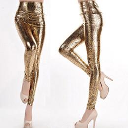 Wholesale Snakeskin Leather Leggings - Fashion Women Sexy Skinny Faux Leather High Waist Leggings Leopard Snakeskin Print Leggings Workout Pants Creative Gift 95ZQ83