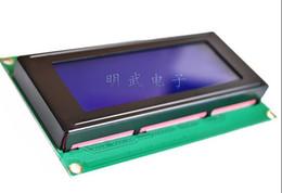 Wholesale Lcd Module Wholesale - Wholesale- 2pcs 1lot LCD Board 2004 20*4 LCD 20X4 5V Blue screen LCD2004 display LCD module LCD2004