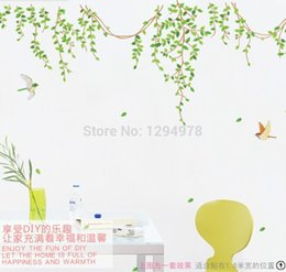 Wholesale Leaves Branches Wall Art - High quality! An Idyllic Scene Leaves Willow Branch DIY Kid Room Removable Art Vinyl Wall Stickers Decor Mural Decal AM9027