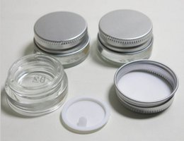 Wholesale Wholesale Eye Screw - 5g high quality glass cream jar with aluminum lid,5ML wide mouth cosmetic container,eye cream cosmetic packaging LLFA