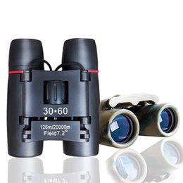 Wholesale Camp Definition - Optical Mini binoculus telescope 30*60 HD High-Powered High definition Binoculars Pocket telescopio night vision and camping binoculos