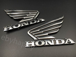 Wholesale Honda Racing Motorcycle - Motorcycle 3D Chrome ABS Decal Sticker Fairing Body Fuel Tank Badge Emblem Logo Custom Scooter Sport Racing Bike Touring For Honda