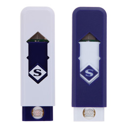 Wholesale Electronic Flame Lighter - Novelty USB Electronic Rechargeable Battery Flameless Cigar Cigarette No flame Lighter No Gas Fuel Lighter