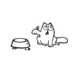 pegatinas de coches gatos Rebajas Pegatinas de coches Personalizado Casual Tanque Decoración Tanter DIY Lindo Gato Necesito Comida Divertida Decoración Del Hogar Etiqueta de La Pared Coches Calcomanías 1 5yl F