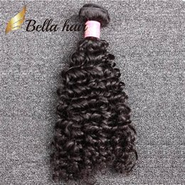 Wholesale Cheap Hair Weave Free Shipping - 100% Unprocessed Brazilian Curly Hair 1pc lot Curly Weave Cheap Curly Brazilian Hair Free Shipping Bella Hair retail 1 bundle