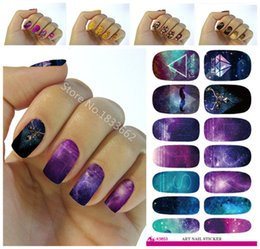 Wholesale Wholesale Decorative Foil Transfer - Wholesale- K618 New fashion water transfer foil nail stickers all kinds of nail art design patterns fashion decorative decal