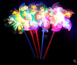 Wholesale Children S Sport Toys Wholesale - Luminous six - leaf windmill new colorful flash windmill creative children 's toys small gifts to spread the source of hot