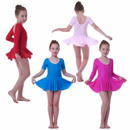 Wholesale child leotard skirt - 3-9 Years Children Dance Costumes Ballet Girls Dresses Skirts Dancewear kid stage dance clothes gymnastics leotard for girls