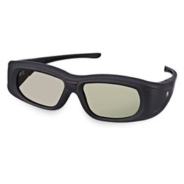 Wholesale Active Infrared - Wholesale- Professional Gonbes G05A HD 3D Glasses Lightweight Bluetooth Infrared Signal Active Shutter 3D Movie Game Crystal Glasses For TV