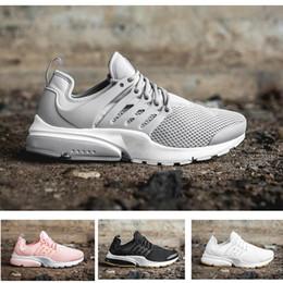Wholesale B Essential - 2017 Presto shoes essential wolf grey men & women running sports footwear mesh and breathable tennis sneaker summer season size 36-46