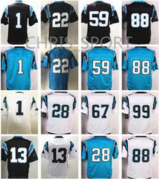 Wholesale Footballs Ryan - Elite football jerseys #1 Cam Newton Christian McCaffrey Luke Kuechly Ryan Kalil Thomas Davis 88 Greg Olsen Carolina jerseys mix order