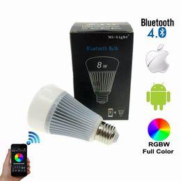 Wholesale E27 White 3528 - Mi.Light Bluetooth 4.0 Bulb Wireless Control Smart Bulb E27 Led Lamp 8W 85-265V 110V 220V Work On iOS Android