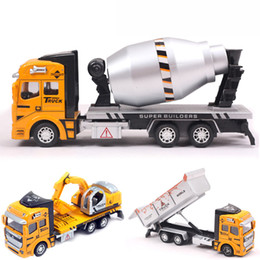 Wholesale Cheap Toy Model Cars - 3 Style Mini Diecasts Car Alloy Construction Vehicle Engineering Car Truck Tractor Model Classic Cheap Toys For Boy kids Gift