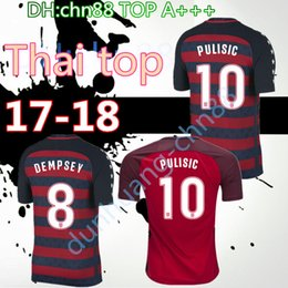 Wholesale Short Black Cup - 2017 Golden Cup League USA Thailand top Quality Soccer jerseys 17 18 BRADLEY DEMPSEY ALTIDORE PULISIC YEDLIN WOOD Embroidery Football shirt