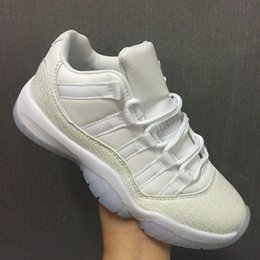 Wholesale Frost Fabrics - Wholesale New Retro 11 XI Low GS Heiress Frost White Women Basketball Shoes men sports Designer sneakers high quality size 36-47