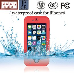 Wholesale Wholesale Red Peppers - For iphone 6 6S Plus Red Pepper Waterproof Shockproof Fingerprint Case Hard PC Protection Phone Back Stand Cover