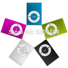 Wholesale Mp3 Clips 1gb - Wholesale- 500pcs Mini Clip MP3 Player Cheap Colorful Support mp3 Players with Earphone, USB Cable, Retail Box, Support Micro SD TF Cards