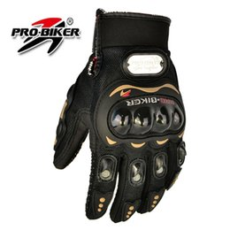 Wholesale Washable Leather Wholesale - Wholesale- Pro biker motorcycle gloves full finger knight riding moto motorcross sports GLOVE cycling Washable glove guantes Black M,L,XL